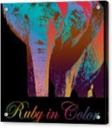 Ruby In Color Acrylic Print