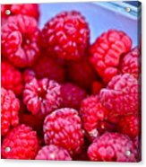 Ruby Raspberries Acrylic Print