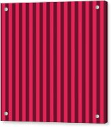 Ruby Red Striped Pattern Design Acrylic Print