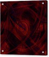 Ruby Red Veil Acrylic Print
