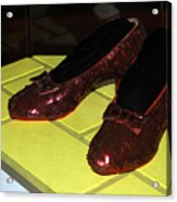 Ruby Slippers On The Yellow Brick Road Acrylic Print