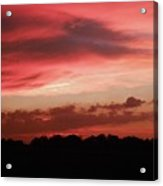 Ruby Sunset Acrylic Print
