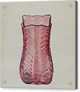 Ruby Vase Acrylic Print