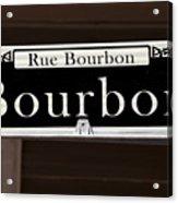 Rue Bourbon Street - New Orleans Acrylic Print