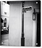 Rue De Chartres Acrylic Print by John Rizzuto