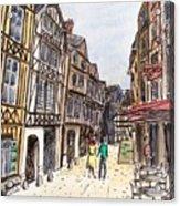Rue Malpalu, Rouen, France I Acrylic Print