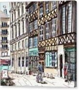 Rue Malpalu, Rouen, France II Acrylic Print