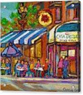 Rue Prince Arthur Casa Grecque Montreal Acrylic Print