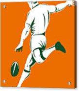 Rugby Player Kicking Acrylic Print