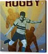 Rugby Player Kicking The Ball Acrylic Print by Aloysius Patrimonio