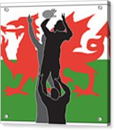 Rugby Wales Acrylic Print
