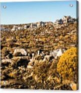 Rugged Mountain Town Acrylic Print