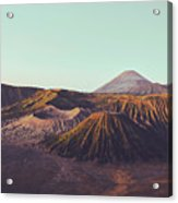 Rugged Mountainous Terrain Mount Bromo At Sunrise Acrylic Print
