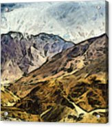 Rugged Mountains Of North India Acrylic Print