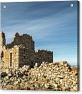Ruined Stone Building At Occi In Corsica  Acrylic Print