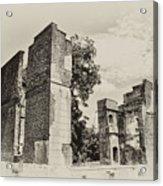 Ruins At Jamestown Acrylic Print