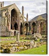 Ruins. Melrose Abbey. Acrylic Print