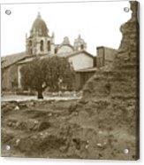 Ruins Of Carmel Mission Circa 1924 Acrylic Print
