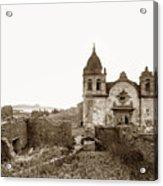Ruins Of Carmel Mission, Monterey, Cal. Circa 1882 Acrylic Print