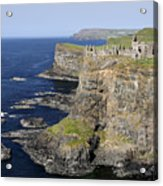 Ruins Of Dunluce Castle On The Sea Cliffs Of Northern Ireland Acrylic Print