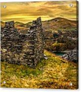 Ruins Of Snowdonia Panorama Acrylic Print
