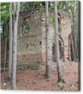 Ruins Of The Baroque Chapel Of St. Mary Magdalene Acrylic Print