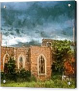 Ruins Under Stormy Clouds Acrylic Print