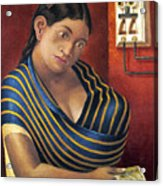 Ruiz: Lottery Ticket Seller Acrylic Print
