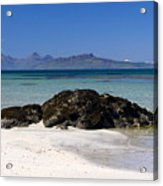 Rum And Eigg From Achateny Beach Acrylic Print