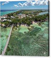 Rum Point Beach Panoramic Acrylic Print