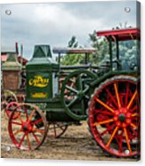 Rumley Oil Pull Tractor Acrylic Print