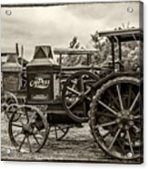 Rumley Oil Pull Vintage Acrylic Print