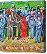Run For The Roses Acrylic Print