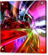 Runaway Color Abstract Acrylic Print by Alexander Butler