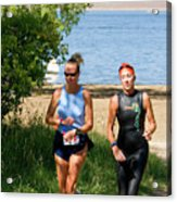 Runners At The 24 Hours Of Triathlon Acrylic Print