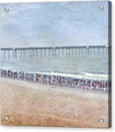 Runners On The Beach Panorama Acrylic Print