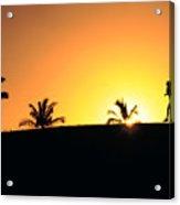 Running At Sunset Acrylic Print