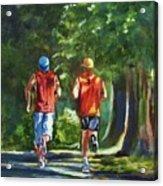 Running Buddies Acrylic Print