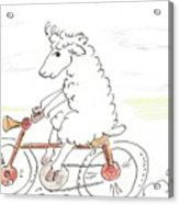 Running Cyclist Cheep Acrylic Print