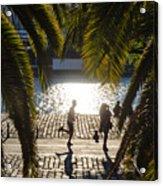Running In The Light Acrylic Print
