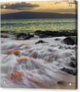 Running Wave At Keawakapu Beach Acrylic Print