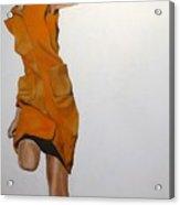 Running Woman Acrylic Print