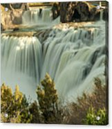 Runoff at Shoshone Falls Acrylic Print