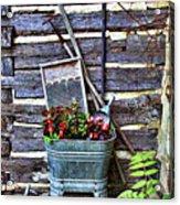 Rural American Graden Scene Acrylic Print by Linda Phelps