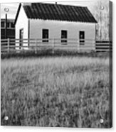 Rural Church Black And White Acrylic Print