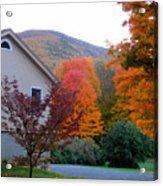 Rural Colorful Autumn Landscape 4 Acrylic Print