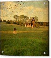 Rural Cottage Acrylic Print by Jill Battaglia