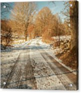 Rural Country Road Acrylic Print
