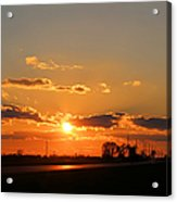 Rural Il Sunset Reflections Acrylic Print