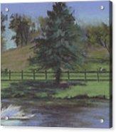 Rural Landscape Painting Of Bauer Farm Acrylic Print
